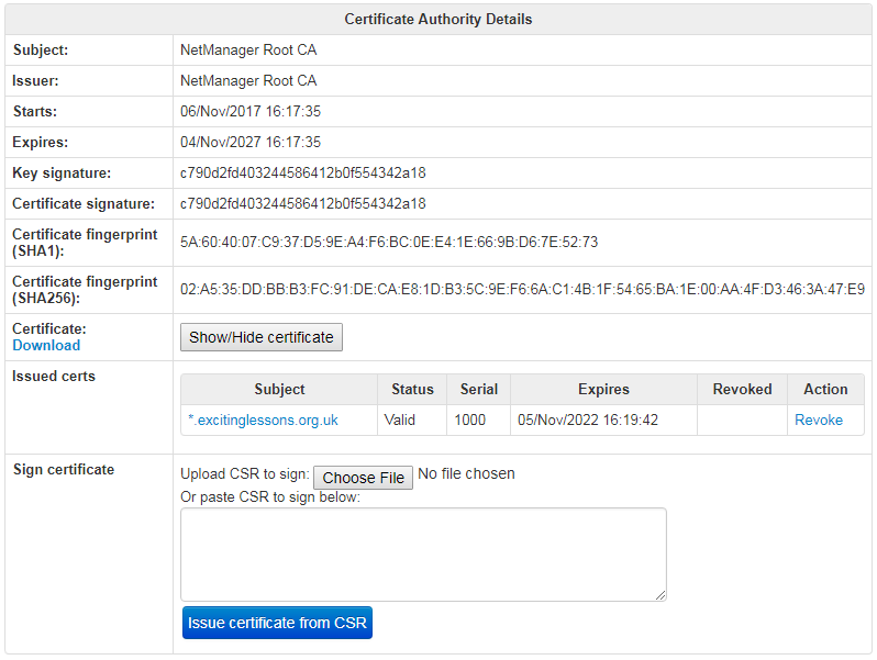 Precedence Technologies Wiki Support Kb Netmanager Ssl Ownca